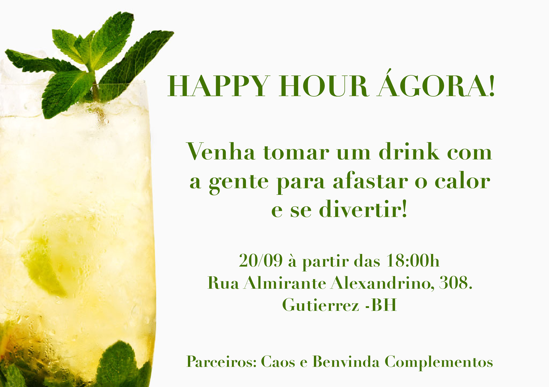 Convite Happy Hour De Verao Agora Store